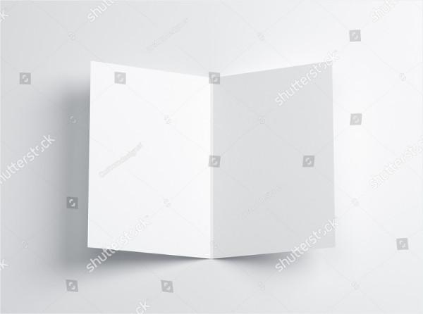 3D Blank Greeting Card Mockup Illustrator