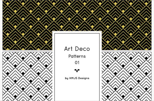 4 Classic Art Deco Pattern Pack