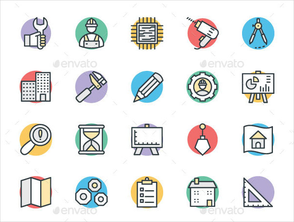 75+ Professional Engineering Vector Icons