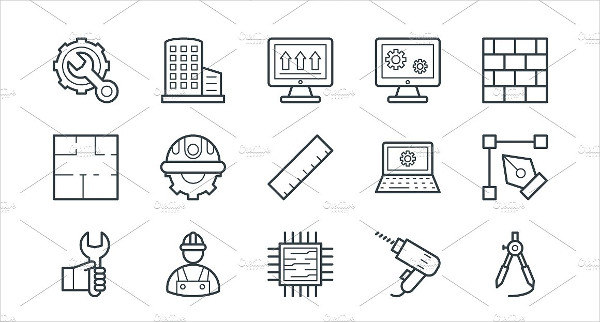75+ Unique Engineering Vector Icons
