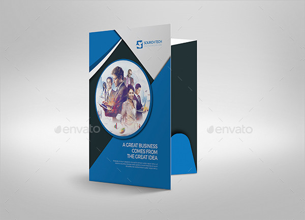 Corporate Presentation Folder Template