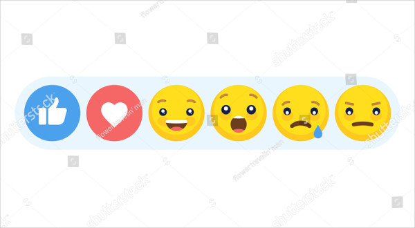 Abstract Funny Flat Style Emoji Reactions