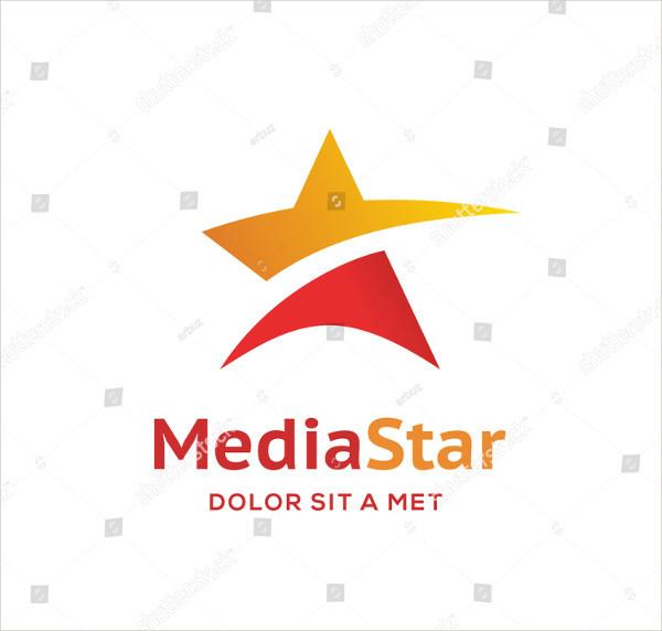 Abstract Star Marketing Logo Design Template