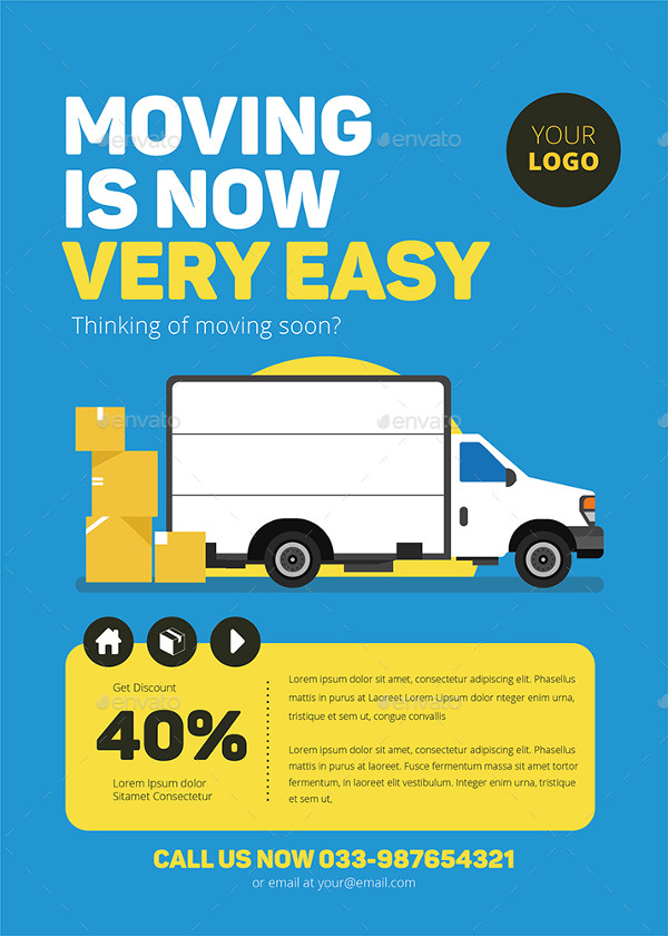 Best Moving House Advertising Flyer Template