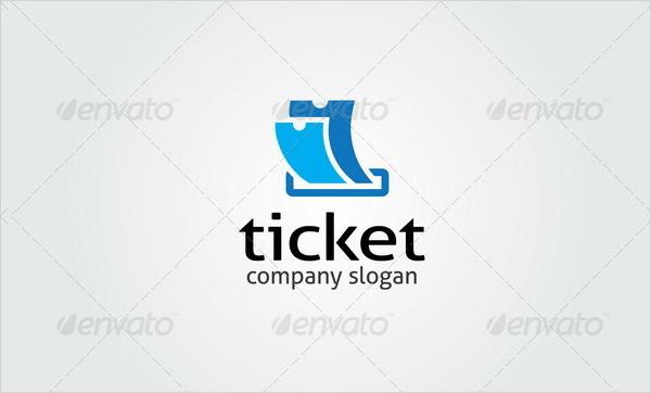 Popular Ticket Agency Logo Template