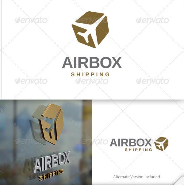 Air Box Shipping Logo Template