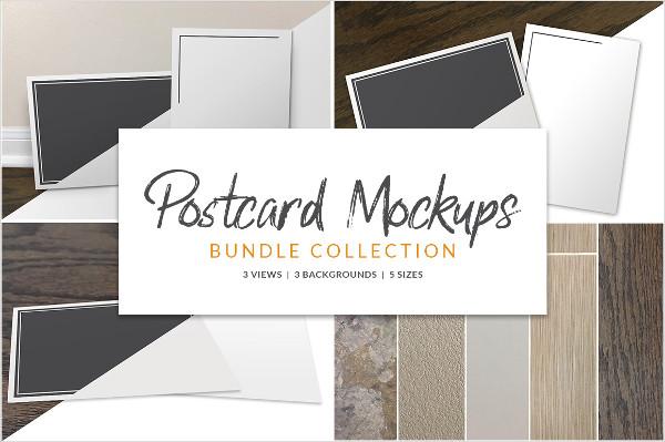 Amazing Postcard Mockups Bundle