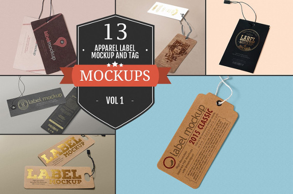 Apparel Label & Tag Mockups