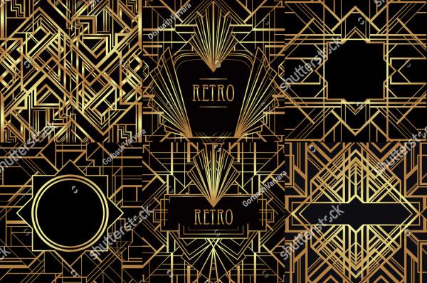 Art Deco Vintage Patterns and Frames