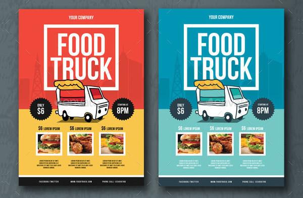 Attractive Food Truck Flyer Template