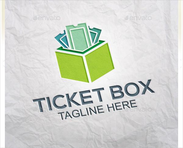 Attractive Ticket Box Logo Template