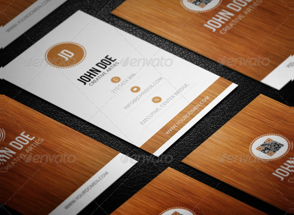 Attractive Wooden Style Business Card Template