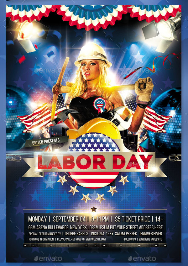 Attractive Worker Day Flyer Design