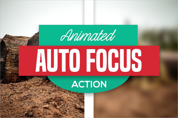 Auto Focus Animated Photoshop Actions