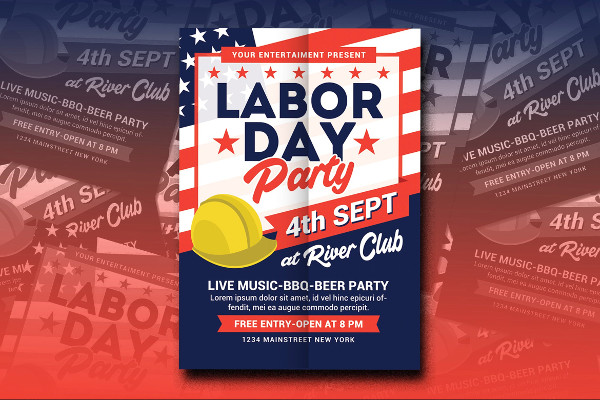 Awesome Labor Day Party Flyer Template