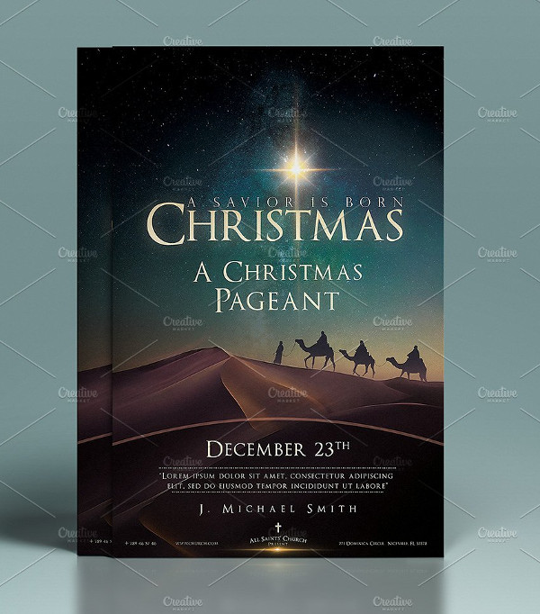 Perfect Christmas Church Flyer & Poster Design