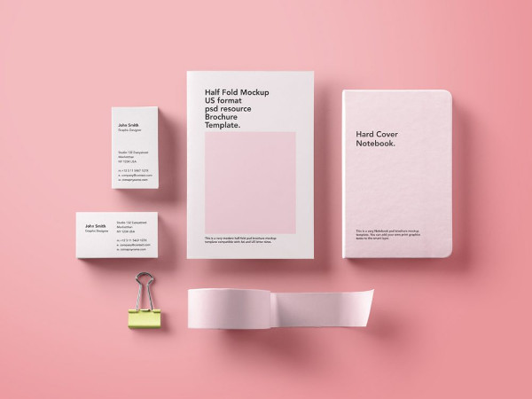 Basic Stationary Mock-Up Bundle Free Download