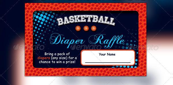 Basketball Baby Shower Invitation & Raffle Tickets