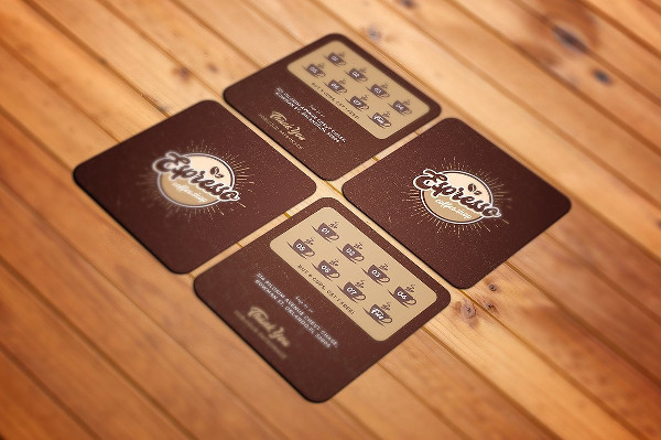 Beautiful Coffee Shop Business Card Template