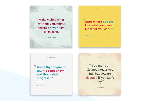 Beautiful Social Media Quote Templates