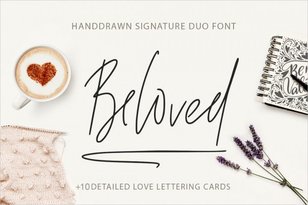 Beloved Signature Duo Font