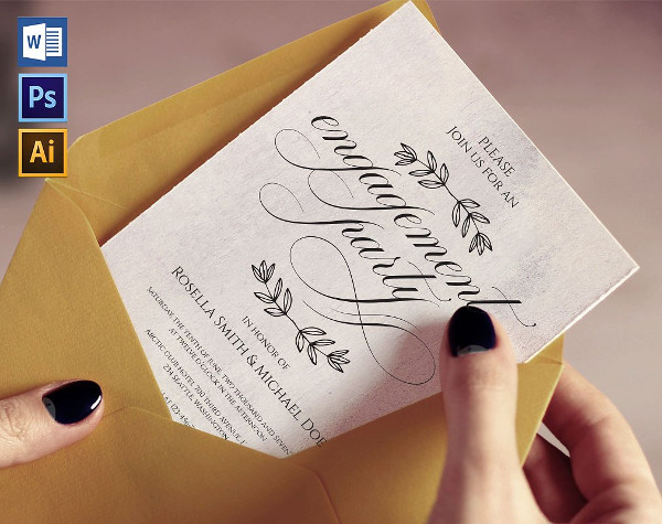 Best Engagement Party Invitation Template