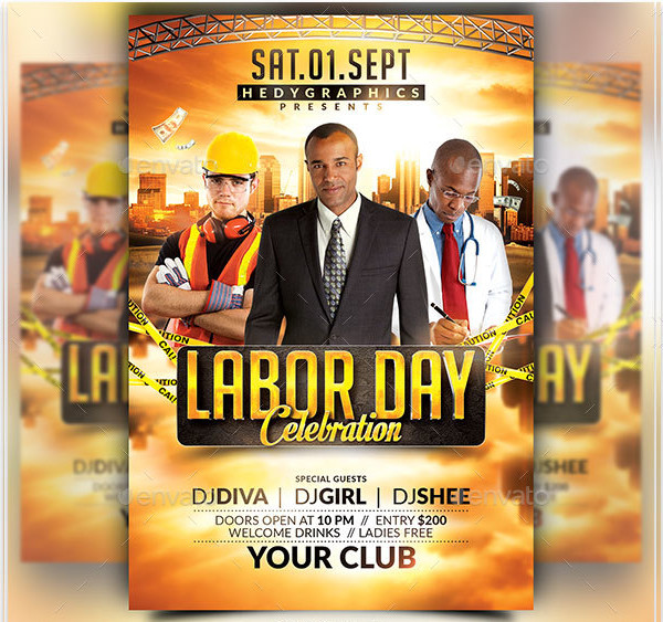 Best Labor Day Celebration Flyer Template
