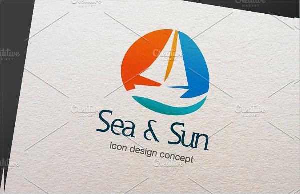 Best Sun & Sea Logo Template