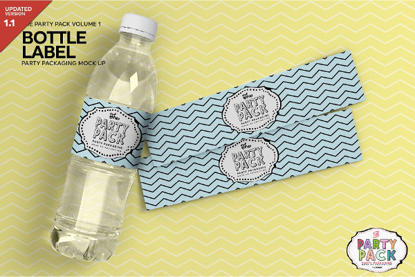 Bottle Label Packaging Mockup Design