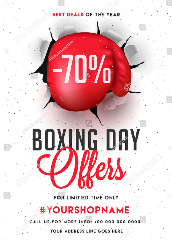 Boxing Day Flyer Design with Discount Offer