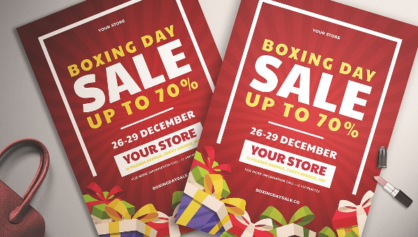 Boxing Day Flyer Templates