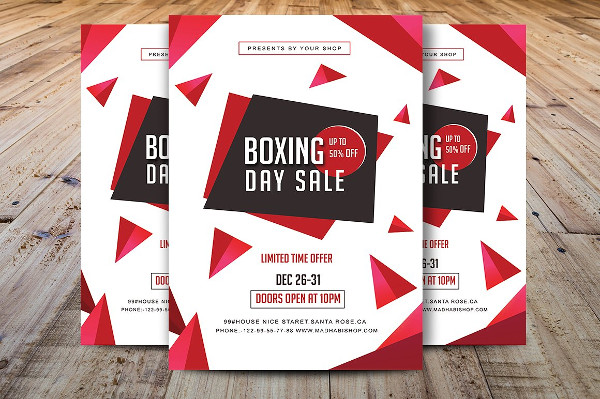 Unique Boxing Day Sale Flyer Template