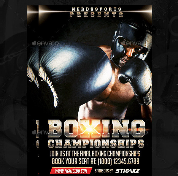 Boxing Day Sports Flyer Template