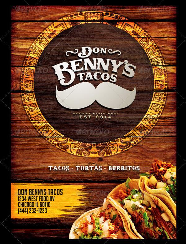 Cool Mexican Restaurant Menu Design