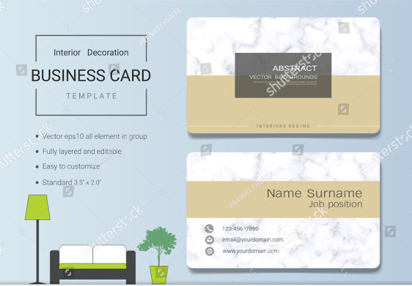 21 Interior Designer Business Card Designs Free Premium Download