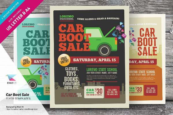 Car Boot Sale Flyer Templates