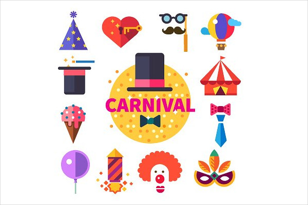 Carnival Flat Icon Set