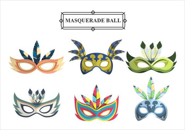 Carnival Masks Vector Icons Set