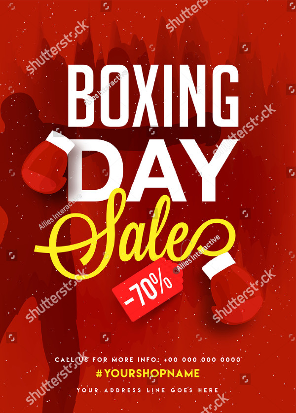 Clean Boxing Day Sale Flyer or Poster Template