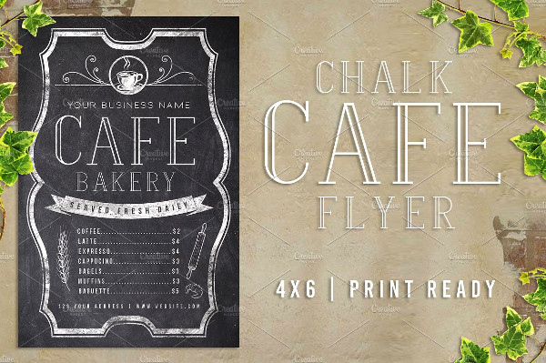 Chalk Cafe Flyer Example