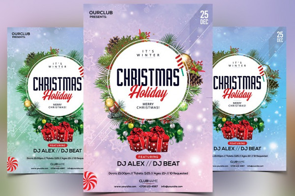 Christmas & Holiday PSD Flyer Template