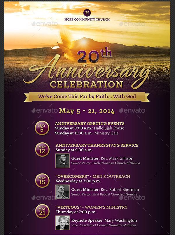 Church Anniversary Celebration Poster Template