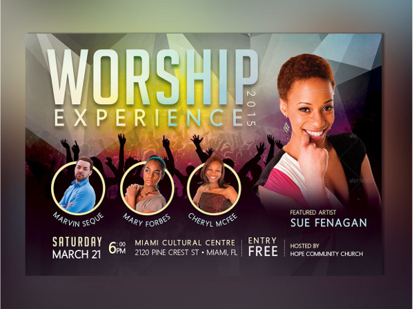 Church Concert Photoshop Flyer Template