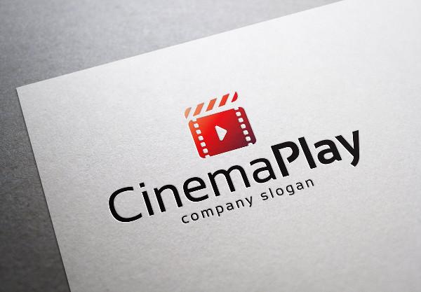 Cinema Play Logo Design