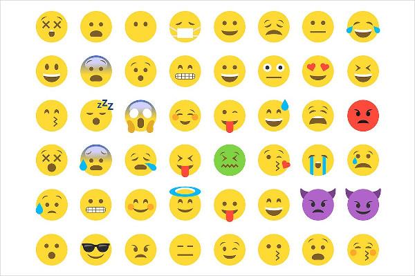 Emoji Flat Design Icons Collection