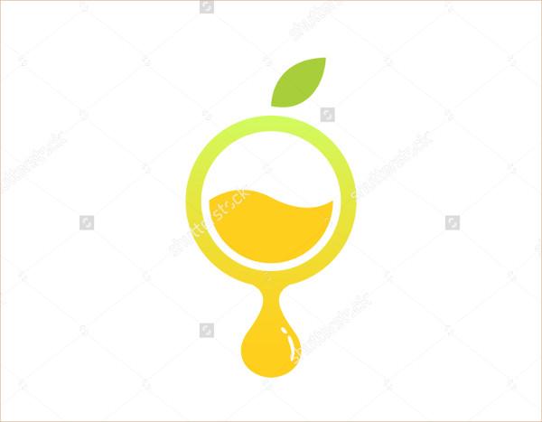 Circle Lemons Fluid Natural Drink Logo