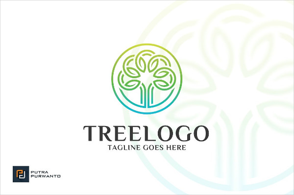 Circle Tree Logo Template