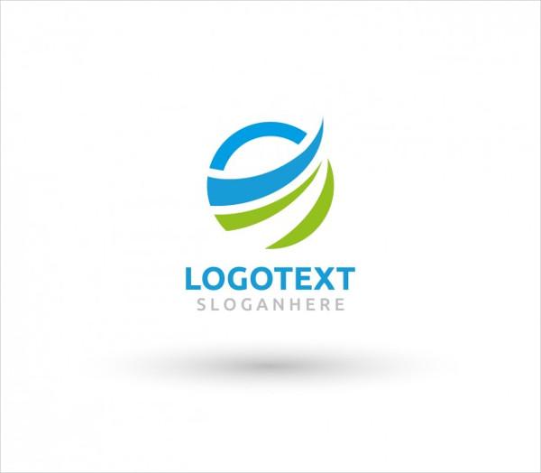 Circular Wave Logo Template Free