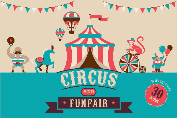 Circus & Funfair Icons Collection