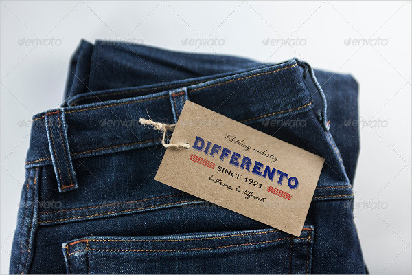 Classic Blue Jeans Label Mockup